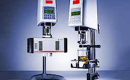 The RheolabQC is the quality control rheometer from Anton Paar. RheolabQC with temperature device C-PTD 180/AIR/QC and with Flexible Cup Holder.